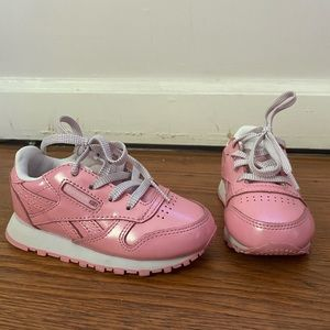 Reebok Pink Classic Tennis Shoes- Sz 6